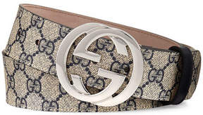 Gucci GG Supreme Belt w/Interlocking G