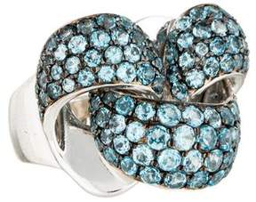 Chimento Blue Topaz Infinity Ring