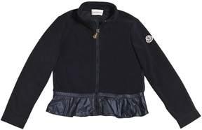 Moncler Fleece Jacket With Nylon Ruffle