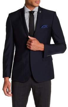 Nick Graham Textured Two Button Notch Lapel Trim Fit Sportcoat