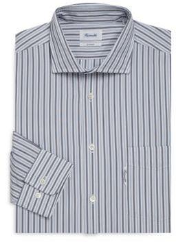 Façonnable Striped Buttoned Cotton Dress Shirt