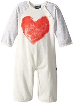 Toobydoo Sweetheart I Bootcut Jumpsuit w/ Heart Print Girl's Jumpsuit & Rompers One Piece