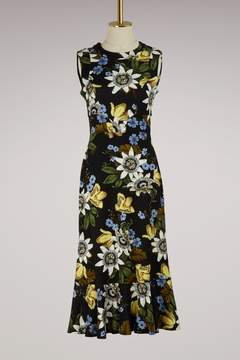 Erdem Grzia short sleeves printed dress