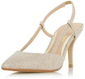 Head Over Heels *Head Over Heels by Dune Gold 'Carris' High Heel Court Shoes
