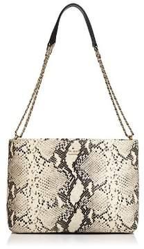 Kate Spade Emerson Lorie Snake-Embossed Leather Shoulder Bag