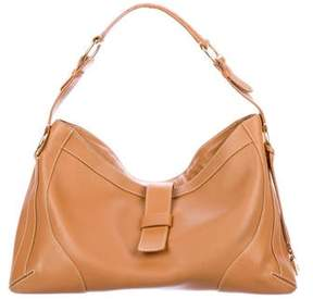 Loro Piana Contrast-Stitched Leather Hobo