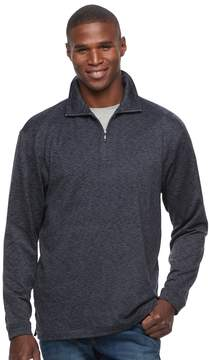 Haggar Men's Regular-Fit Marled Easy-Care Quarter-Zip Pullover