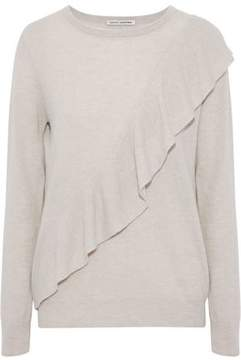 Autumn Cashmere Ruffle-Trimmed Cashmere Sweater
