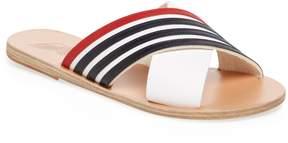 Ancient Greek Sandals Women's Thais Striped Leather Sandal