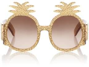 Gucci Embellished round sunglasses