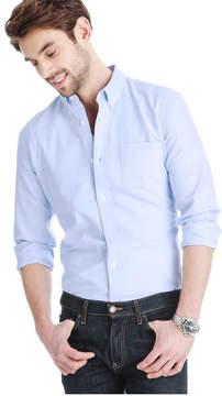 Joe Fresh Men's Standard Fit Oxford Shirt, Blue (Size L)