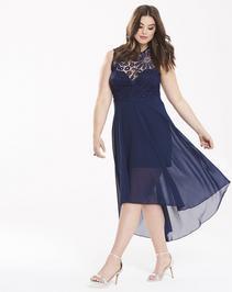 AX Paris Hi-Lo Hem Crochet Dress