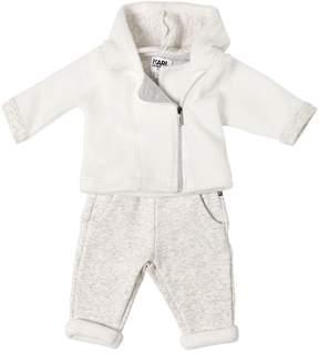Karl Lagerfeld Faux Fur & Jersey Sweatshirt & Pants