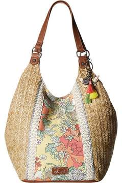 Sakroots Roma Straw Shopper Handbags