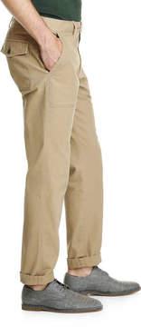 Joe Fresh Men's Slim Straight Workwear Pant, Dark Tan (Size 34)
