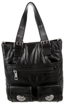 Marc Jacobs Soft Leather Tote - BLACK - STYLE