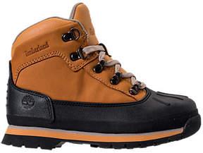 Timberland Boys' Preschool Euro Hiker Shell Toe Boots