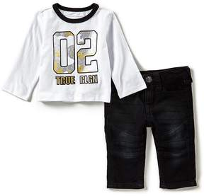 True Religion Baby Boys 3-24 Months Camo Long-Sleeve Tee & Jeans Set