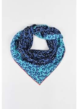 Louis Vuitton Pre-owned Blue Multicolor Silk Leopard Print Scarf.