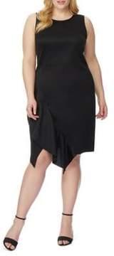 Wilson Rebel X Angels Plus Asymmetric-Hem Ruffle Sheath Dress
