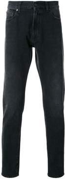 MSGM contrast fur panel jeans