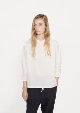 Chimala High Neck Cotton Blouse Off White Size: Medium