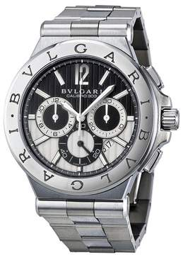 Bvlgari Diagono Chronograph Automatic Black and Silver Dial Men's Watch