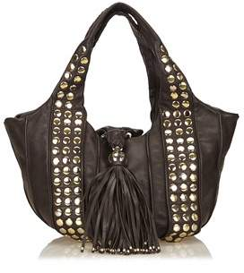 Lancel Pre-owned: Studded Leather Tote.