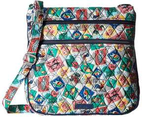 Vera Bradley Triple Zip Hipster Cross Body Handbags