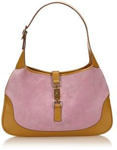Gucci Pre-owned: Suede Leather Jackie. - PINK X BROWN - STYLE