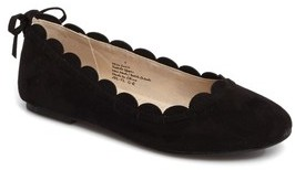 Jack Rogers Girl's Miss Lucie Scalloped Ballet Flat