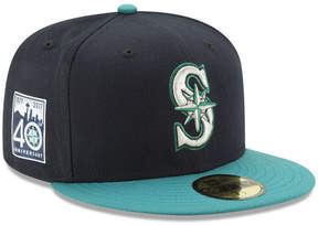 New Era Seattle Mariners 2017 40th Anniversary Patch 59FIFTY Cap
