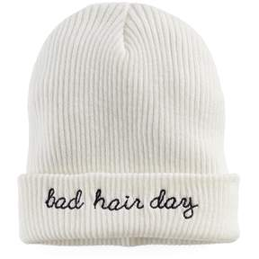 Mudd Women's Embroidered Bad Hair Day Beanie