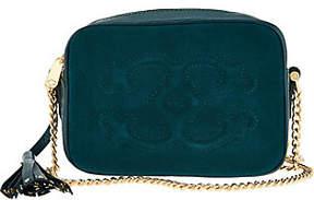 C. Wonder Pebble Leather and Suede Crossbody Handbag