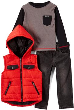 DKNY High Risk Red Vest Set - Toddler & Boys