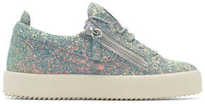 Giuseppe Zanotti Grey Glitter May London Sneakers