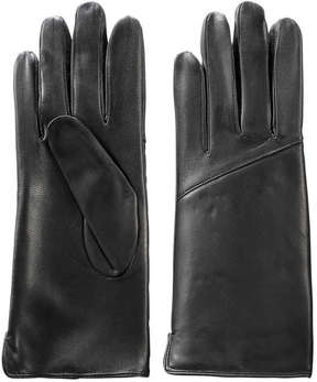Joe Fresh Women's Leather Look Gloves, Black (Size S/M)