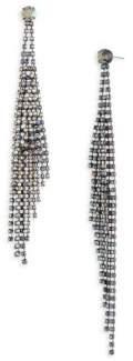 ABS by Allen Schwartz Rhinestone Fringe Shoulder Duster Earrings