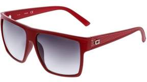 GUESS Gradient GF0158-67B-58 Red Square Sunglasses