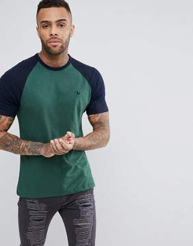 Jack Wills Verwood Raglan T-Shirt In Green