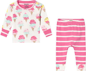 Hatley Pink Ice Cream Treats Long Sleeve Mini Pajama Set