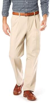 Dockers Men's Relaxed-Fit Signature Stretch Khaki Pants - Pleated D4