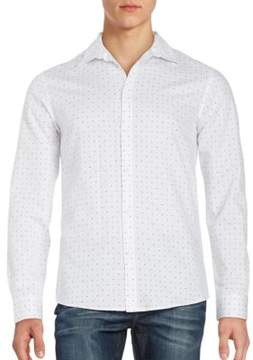 Selected Neat Print Button-Down Shirt