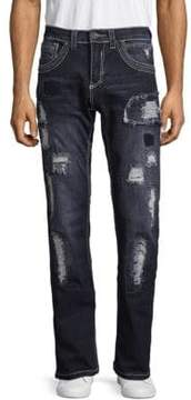 Affliction Contrast Distressed Jeans