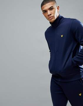 Lyle & Scott Fitness Mooney Tricot Tracksuit Jacket In Navy