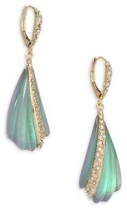 Alexis Bittar Lucite Crystal-Encrusted Sculptural Drop Earrings