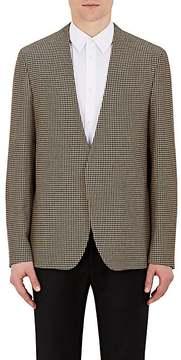 Maison Margiela Men's Houndstooth Wool Collarless Open-Front Sportcoat