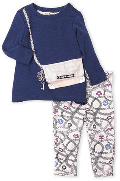 Juicy Couture Infant Girls) Two-Piece Tunic Purse & Leggings Set