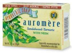 Sandal-Turmeric Soap by Auromere (2.75oz Bar)