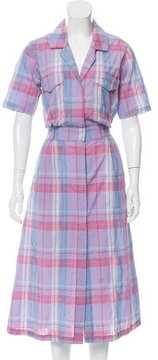 Creatures of Comfort Plaid Midi Dress w/ Tags